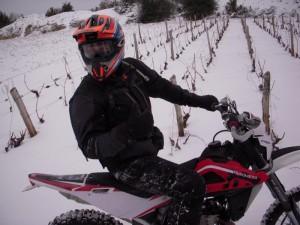 Rando moto enduro beaujolais neige 1